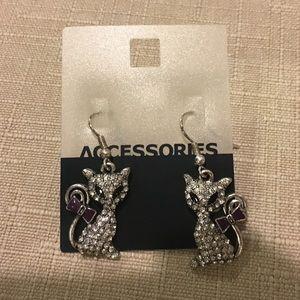 Old Navy Jewelry - Cat earrings